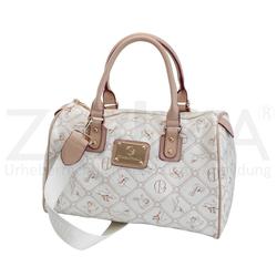 Giulia Pieralli Große Damentasche Schultasche Handtasche Stickerei Beige
