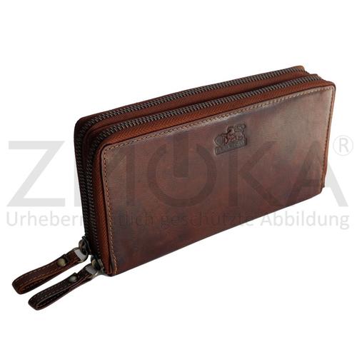 b2293a38e640c ... Geldbörse Portemonnaie Geldbeutel Börse - Braun. presented-by-ZMOKA- Branco-edle-Leder-XXL-Damen- ...